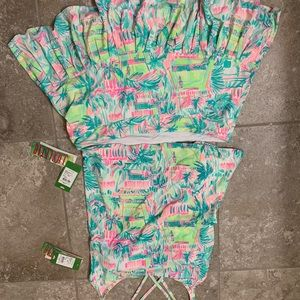 Lilly Pulitzer  luxletic tennis skirt/top XL NWT